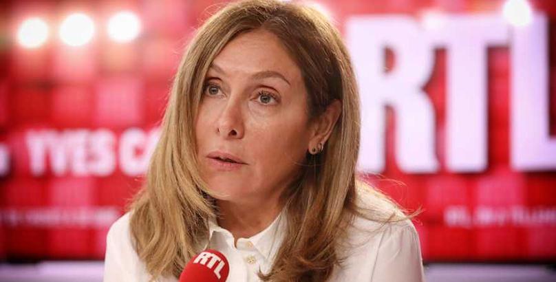 Carole Ghosn au micro de RTL le 08 octobre 2019. ELle appel Emmanuel MAcron à aider son mari. Crédit photo : Frederdic Bukajlo/SIPA |
