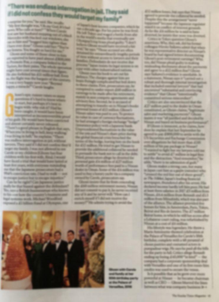Sunday Times 15 nov 2020